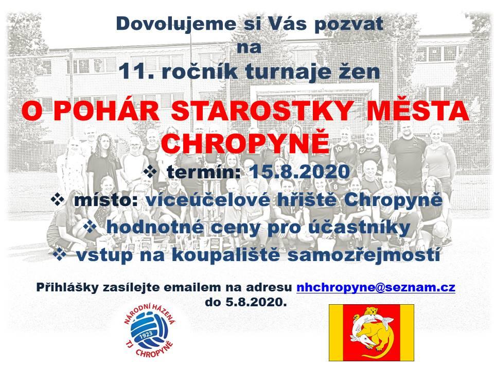 Turnaj o pohár starostky města Chropyně.
